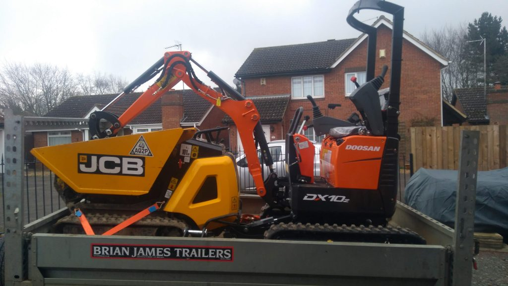mini digger and dumper hire